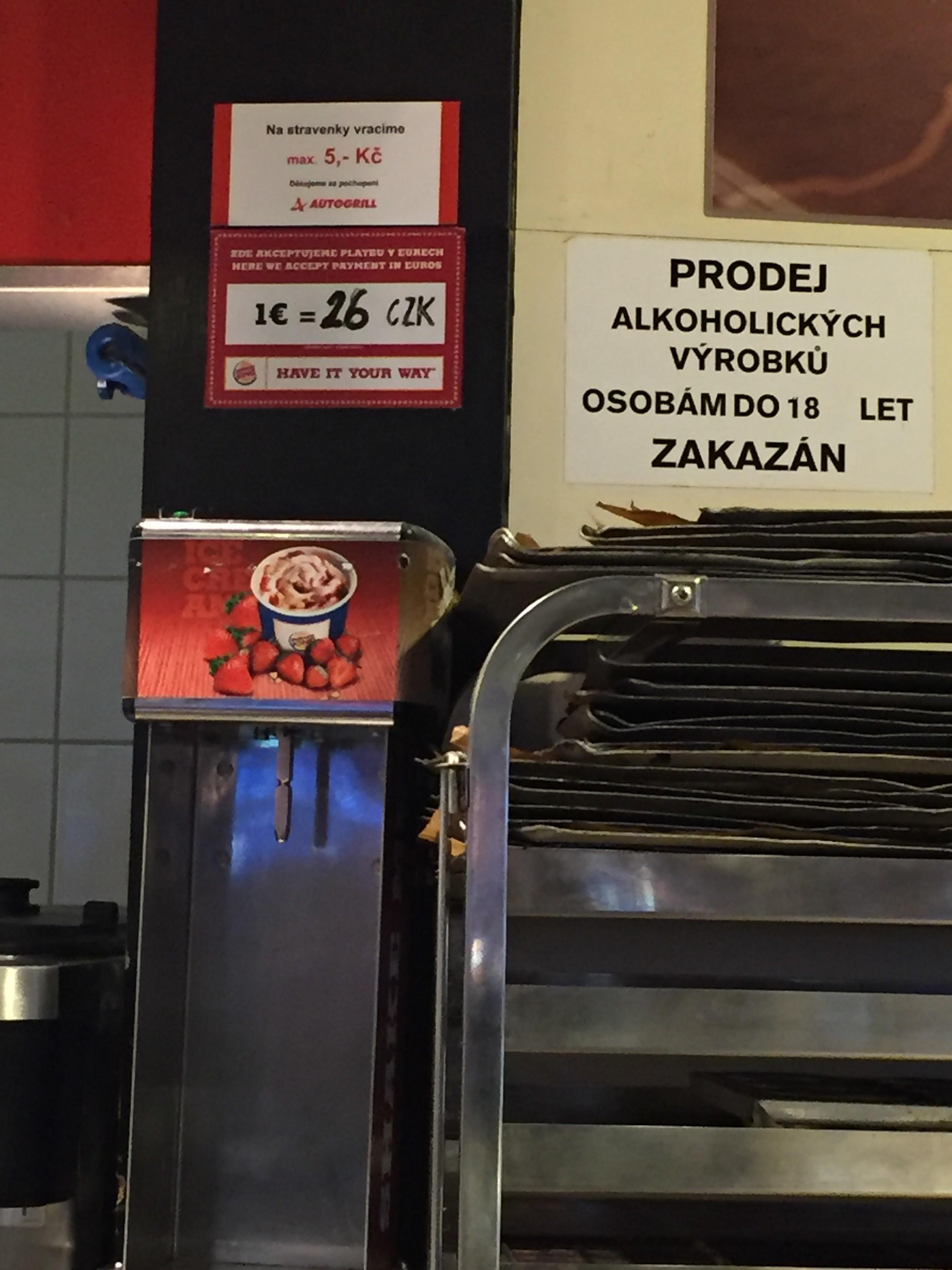 Burger King in Prague
