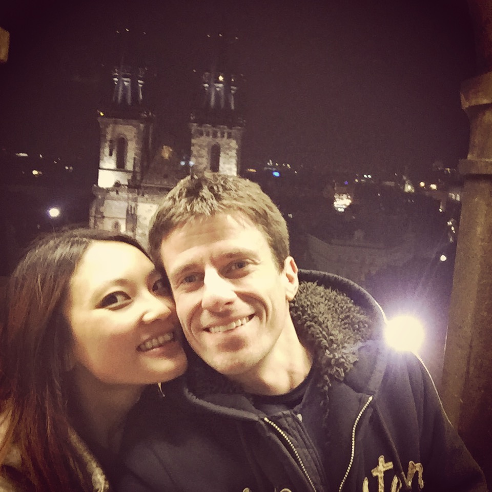 Prague in evening