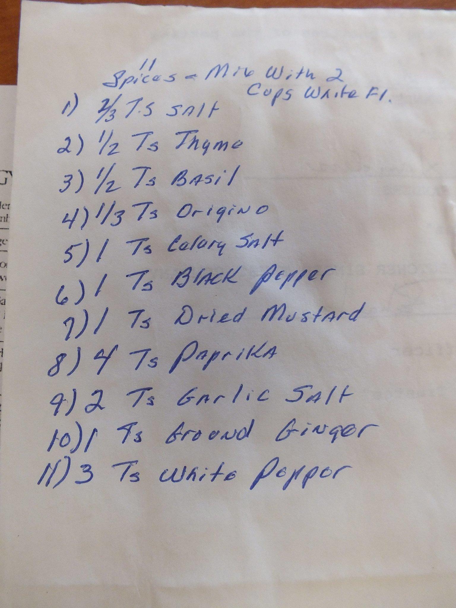 KFC originel recipe